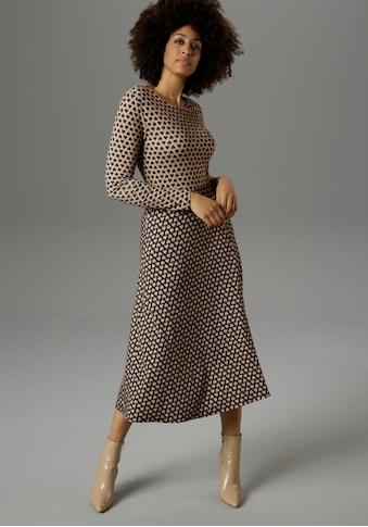Aniston SELECTED Jerseykleid, mit aufgedruckten Herzen - NEUE KOLLEKTION kaufen