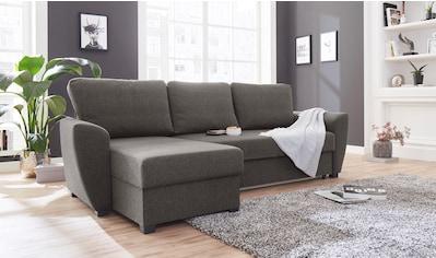 ATLANTIC home collection Ecksofa, inklusive Bettfunktion und Bettkasten kaufen