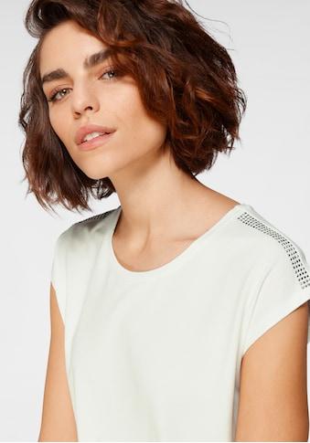 Tamaris Kurzarmshirt, mit besonderem Strassdetail kaufen