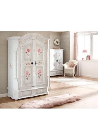 Premium collection by Home affaire Drehtürenschrank »Taunus«, aus massivem Fichtenholz, mit dekorativen Blumenprint auf den Fronten, Höhe 189 cm kaufen