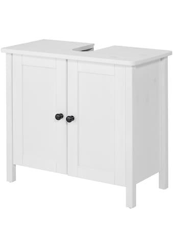 welltime Waschbeckenunterschrank »Sylt«, Badmöbel im Landhaus-Stil, Breite 65 cm, aus... kaufen