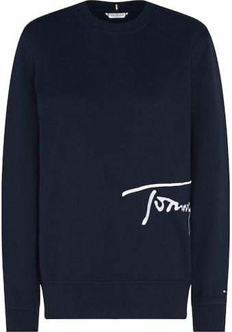 TOMMY HILFIGER Sweatshirt »REGULAR C-NK SCRIPT SWEATSHIRT«, mit Tommy Hilfiger... kaufen