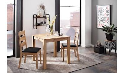Home affaire Essgruppe »Soeren 1« (Set, 3 - tlg Tisch 80 x 80, 2 Stühle, Polstersitz) kaufen