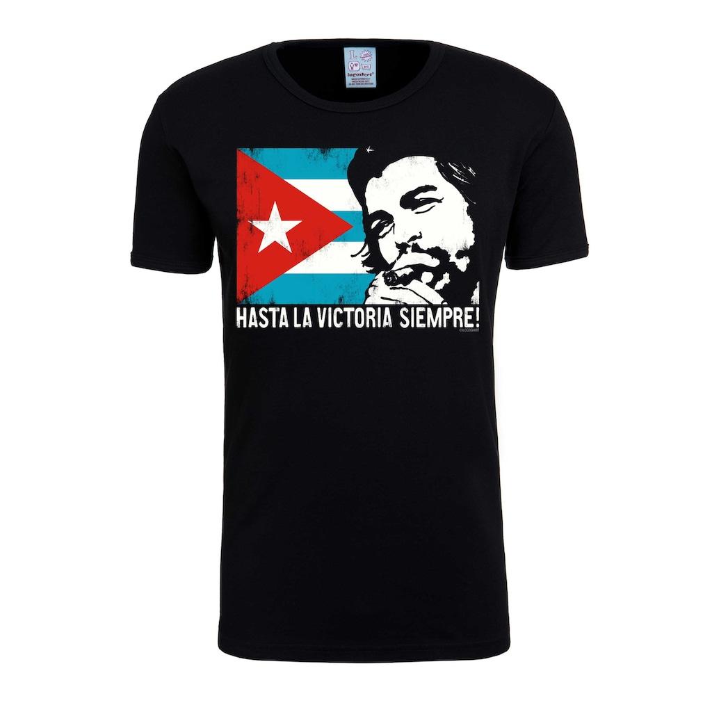 LOGOSHIRT T-Shirt »Che - Cuban Flag«, mit lizenziertem Originaldesign
