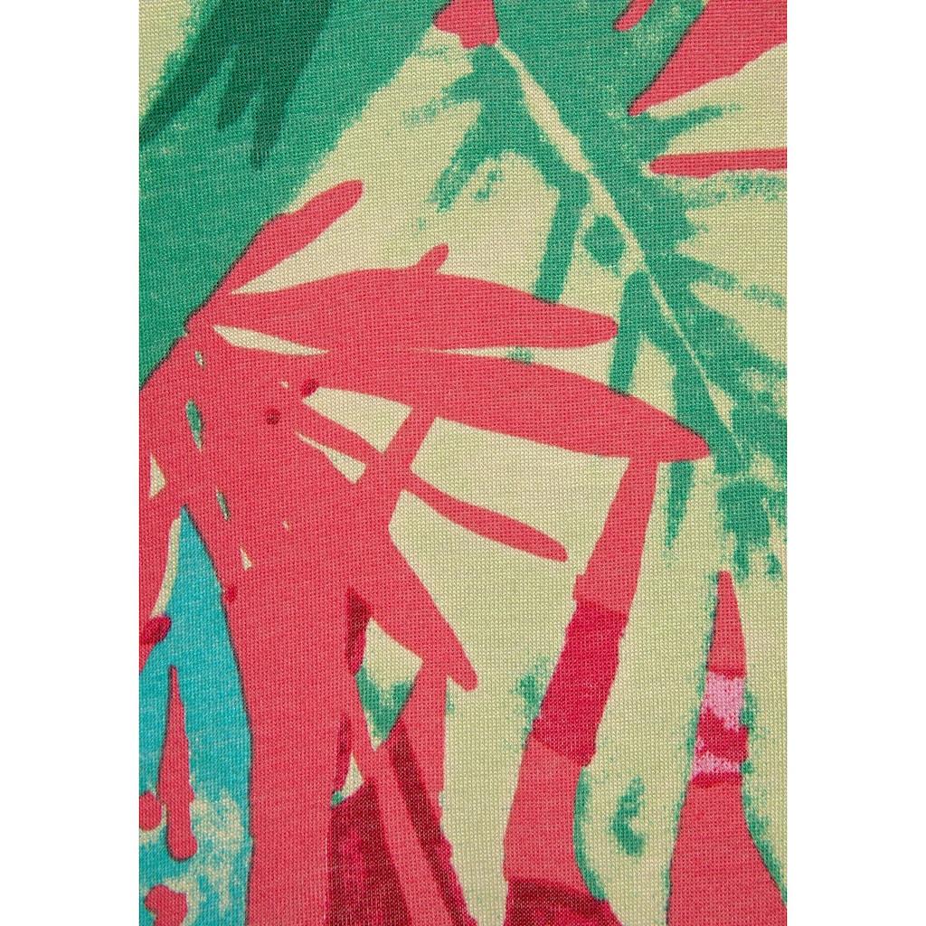 Buffalo Sommerkleid, (mit Bindeband), und buntem Tropicalprint
