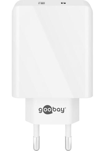 Goobay USB-Ladegerät »Schnellladegerät für USB Typ C und Typ A, 18W, W« kaufen