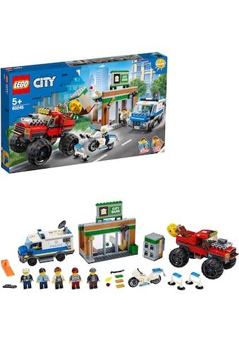 """LEGO® Konstruktionsspielsteine """"Raubüberfall mit dem Monster - Truck (60245), LEGO® City"""", Kunststoff, (362 - tlg.) kaufen"""