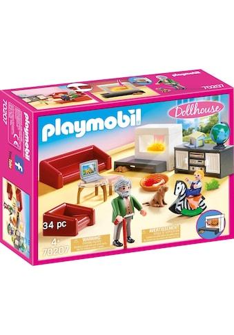 Playmobil® Konstruktions-Spielset »Gemütliches Wohnzimmer (70207), Dollhouse«, (34 St.), Made in Germany kaufen