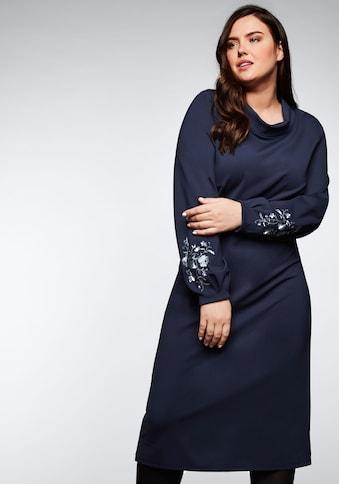 Sheego Jerseykleid, mit halsfernem Stehkragen kaufen