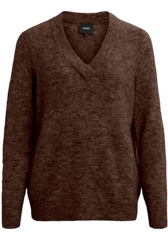 Object V-Ausschnitt-Pullover »OBJNETE«, mit femininem V-Ausschnitt kaufen