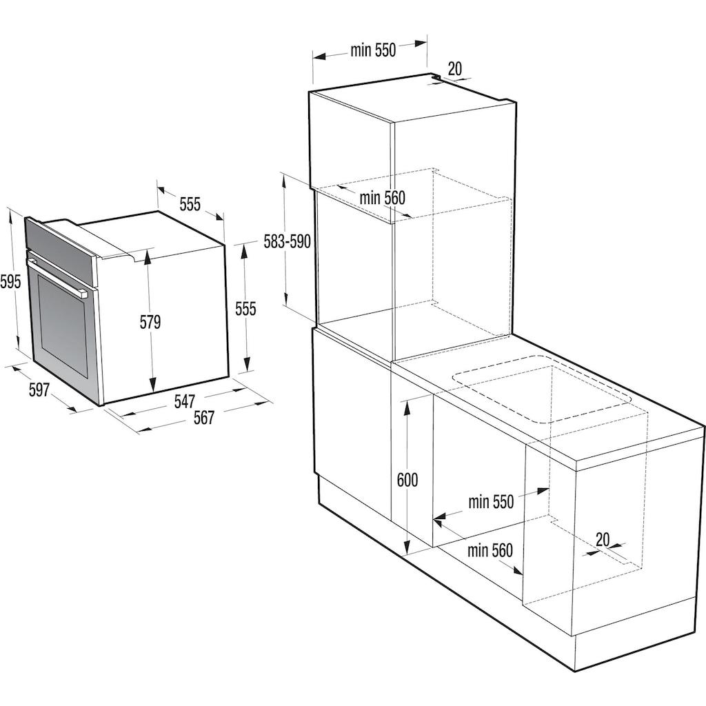 GORENJE Backofen-Set »BO 7732 CLI + EC 642 CLI«, Großflächengrill