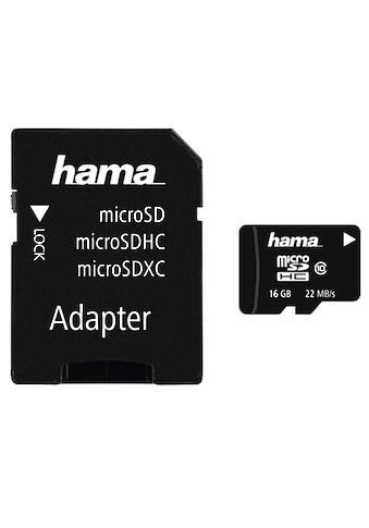 Hama Speicherkarte, ( Class 10 ), 16 GB Class 10, 22MB/s + Adapter/Mobile kaufen