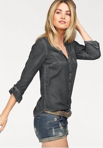 AJC Hemdbluse, in weich gewaschener Jeans Optik kaufen