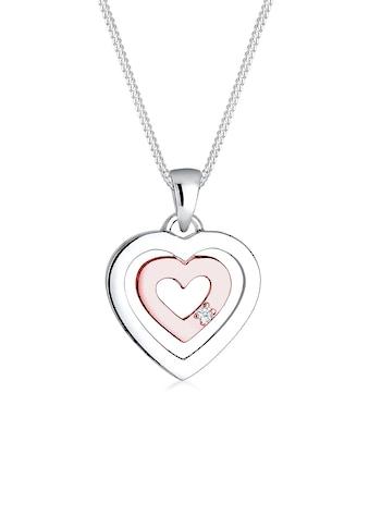 Diamore Collierkettchen »Herz Bi-Color Diamant (0.015 ct.) 925 Silber« kaufen
