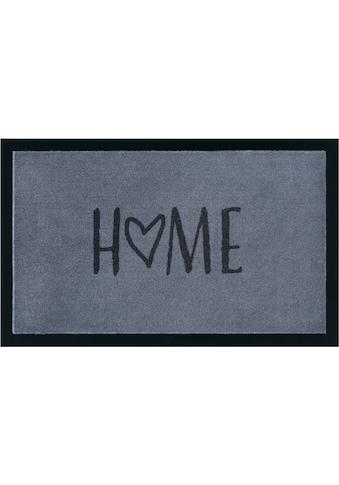 my home Fußmatte »Magne«, rechteckig, 5 mm Höhe, Schmutzfangmatte, mit Spruch kaufen