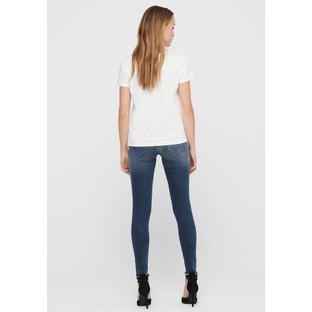 Only Ankle-Jeans »ONLBLUSH«, mit Fransensaum