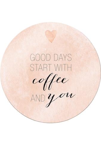 Wall-Art Leinwandbild »Confetti & Cream - Good Days start with coffee« kaufen