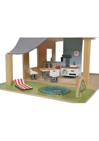 Eichhorn Puppenhaus, mit Möbeln und Spielfiguren kaufen