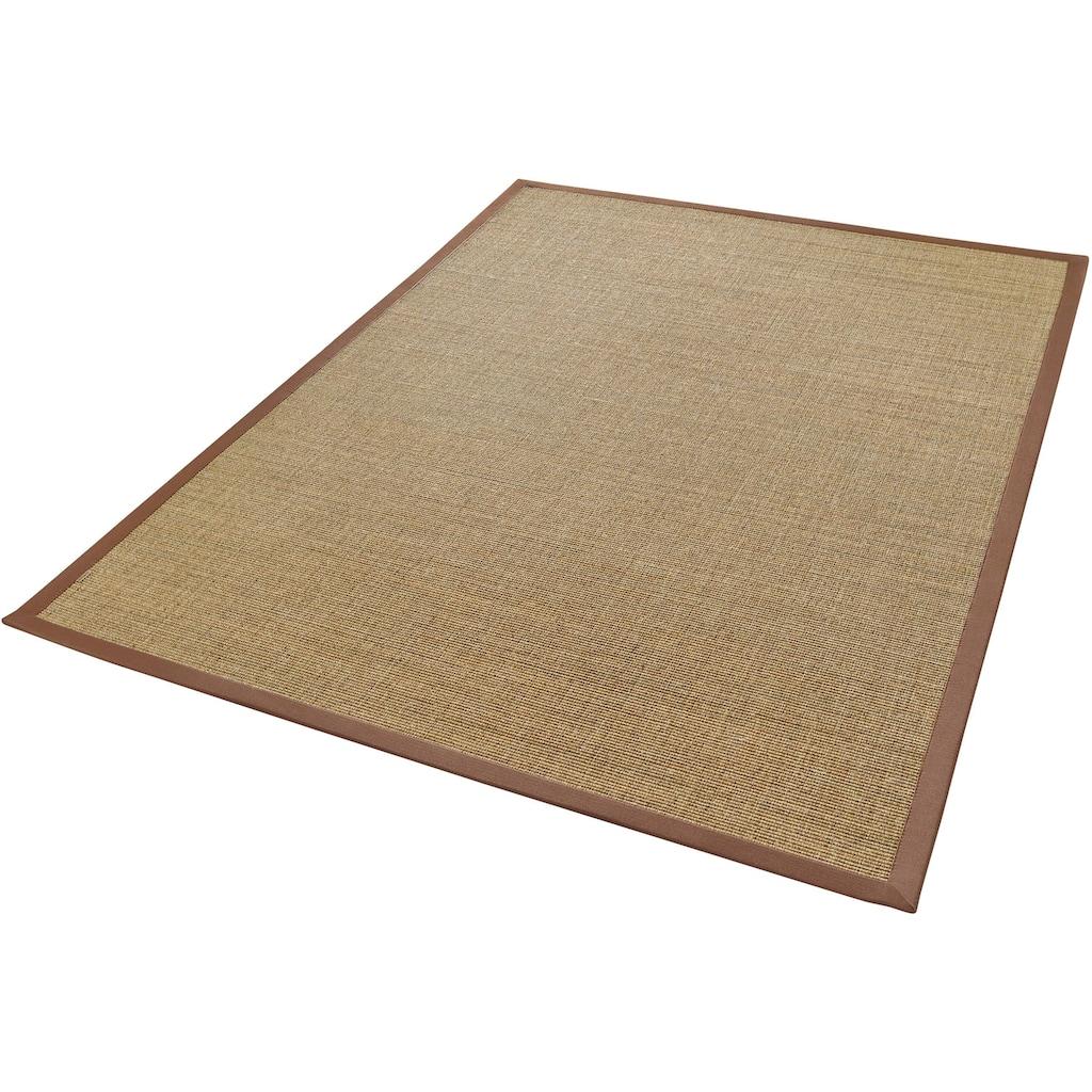 Dekowe Sisalteppich »Mara S2 mit Bordüre«, rechteckig, 5 mm Höhe, Flachgewebe, Obermaterial: 100% Sisal, Wohnzimmer