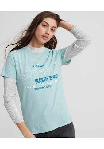 Superdry T-Shirt »PG LABEL OUTLINE ENTRY TEE«, mit schlichtem Labelwording kaufen
