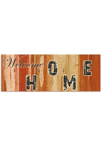Artland Schlüsselbrett »Willkommen zuhause_braun« kaufen
