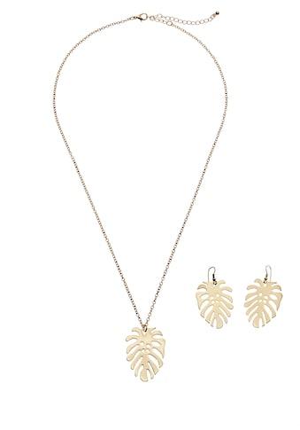 LASCANA Schmuckset, Kette und Ohrringe mit Palmenblatt kaufen