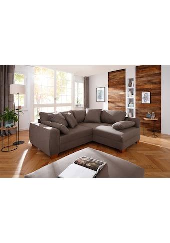 Home affaire Ecksofa »Helena Luxus«, mit besonders hochwertiger Polsterung für bis zu 140 kg pro Sitzfläche, incl. 2 Nierenkissen und 3 Zierkissen kaufen