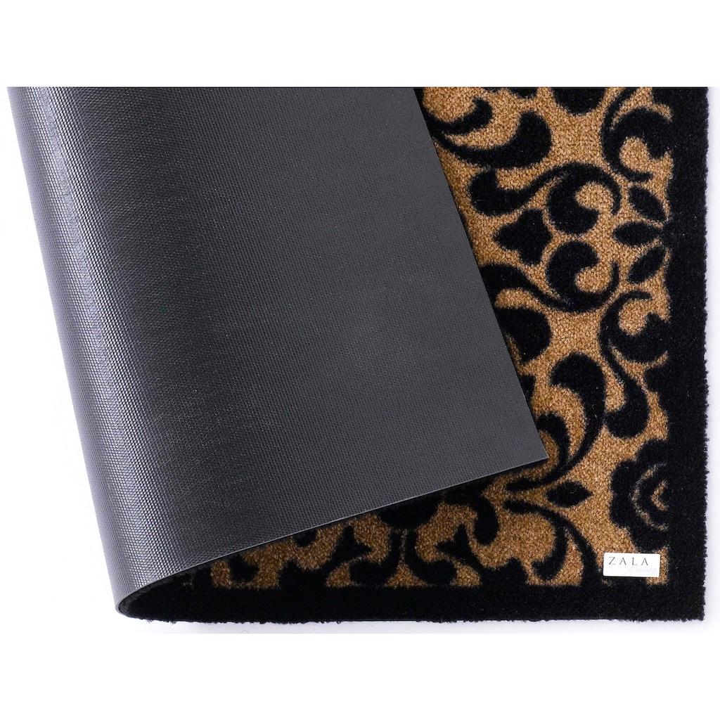 Zala Living Fußmatte »Ornament«, rechteckig, 7 mm Höhe, Fussabstreifer, Fussabtreter, Schmutzfangläufer, Schmutzfangmatte, Schmutzfangteppich, Schmutzmatte, Türmatte, Türvorleger