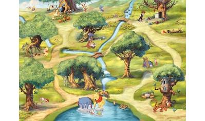 Komar Fototapete »Hundertmorgenwald«, bedruckt-Comic, ausgezeichnet lichtbeständig kaufen