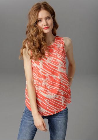Aniston CASUAL Blusentop, mit trendigem Druck in Leuchtfarben kaufen