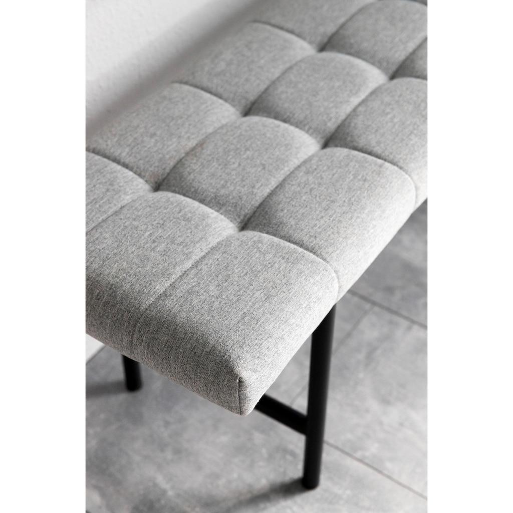andas Sitzbank »Senta«, mit schönem Webstoff Bezug und einem Metallbeingestell, Breite 100 cm
