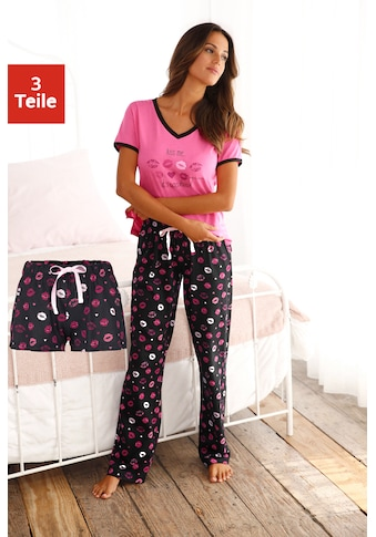 Vivance Dreams Pyjama, mit Kussmund Print kaufen
