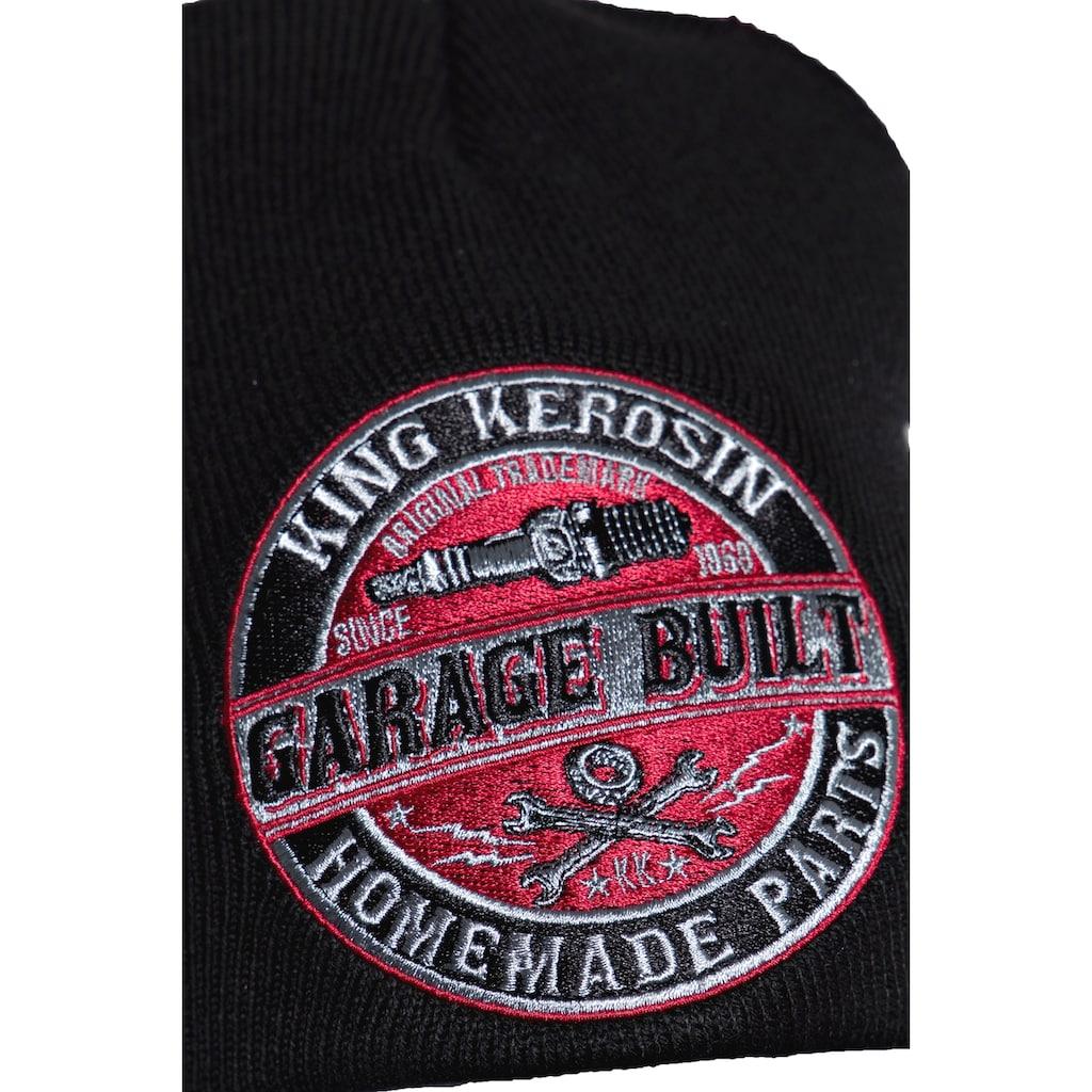 KingKerosin Strickmütze »Garage Built«