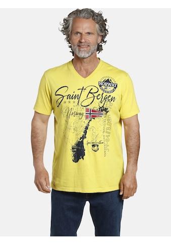 Jan Vanderstorm V-Shirt »OLOV«, große Brustapplikationen kaufen