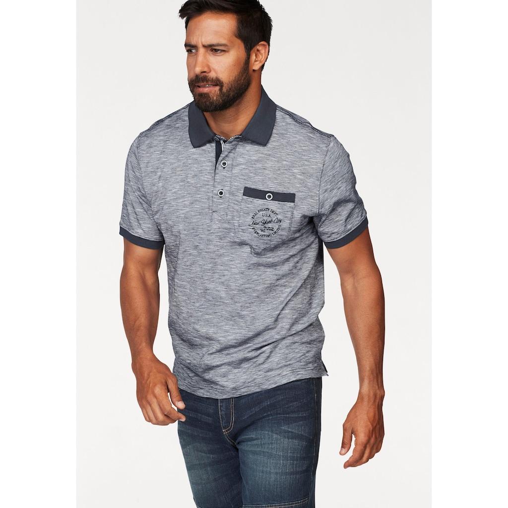 Man's World Poloshirt, in melierter Optik
