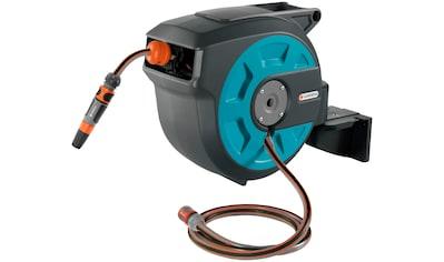 GARDENA Wandschlauchbox »roll-up automatic, 08022-20«, mit 15 m Schlauch, Systemteilen und Spritze kaufen