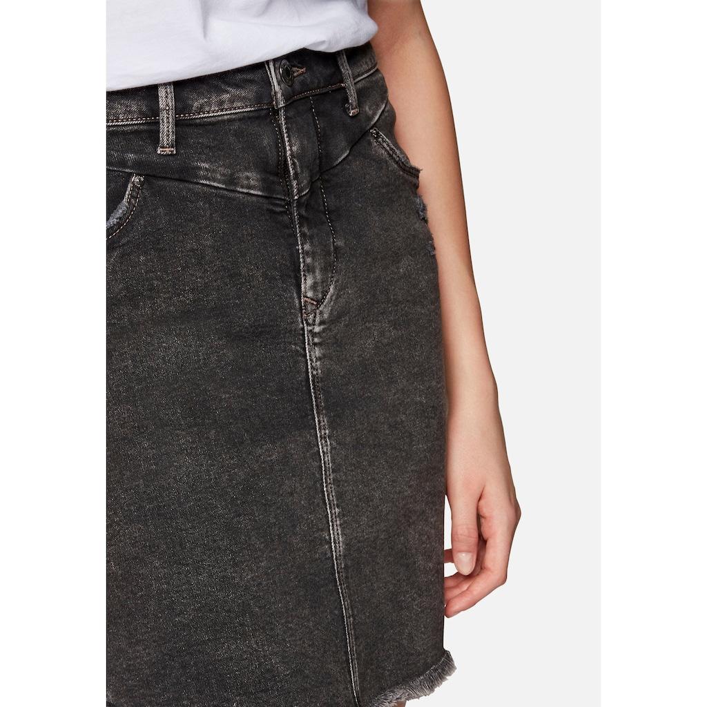 Mavi Jeansrock »MILA«, mit ausgefransten Saumabschluss