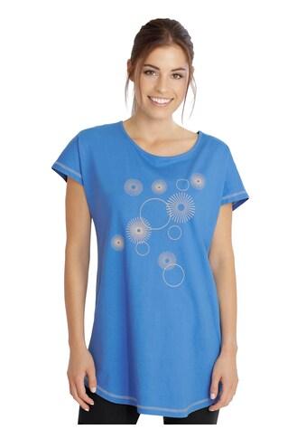 Longshirt mit attraktivem Print im Vorderteil kaufen