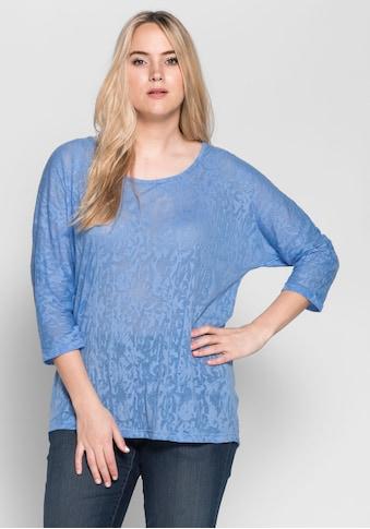 Sheego 3/4-Arm-Shirt, in Ausbrenner-Qualtiät kaufen