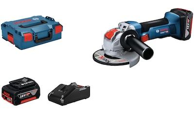 Bosch Professional Akku-Winkelschleifer »GWX 18V-8 (2x 5.0Ah, GAL 18V-40, L)« kaufen