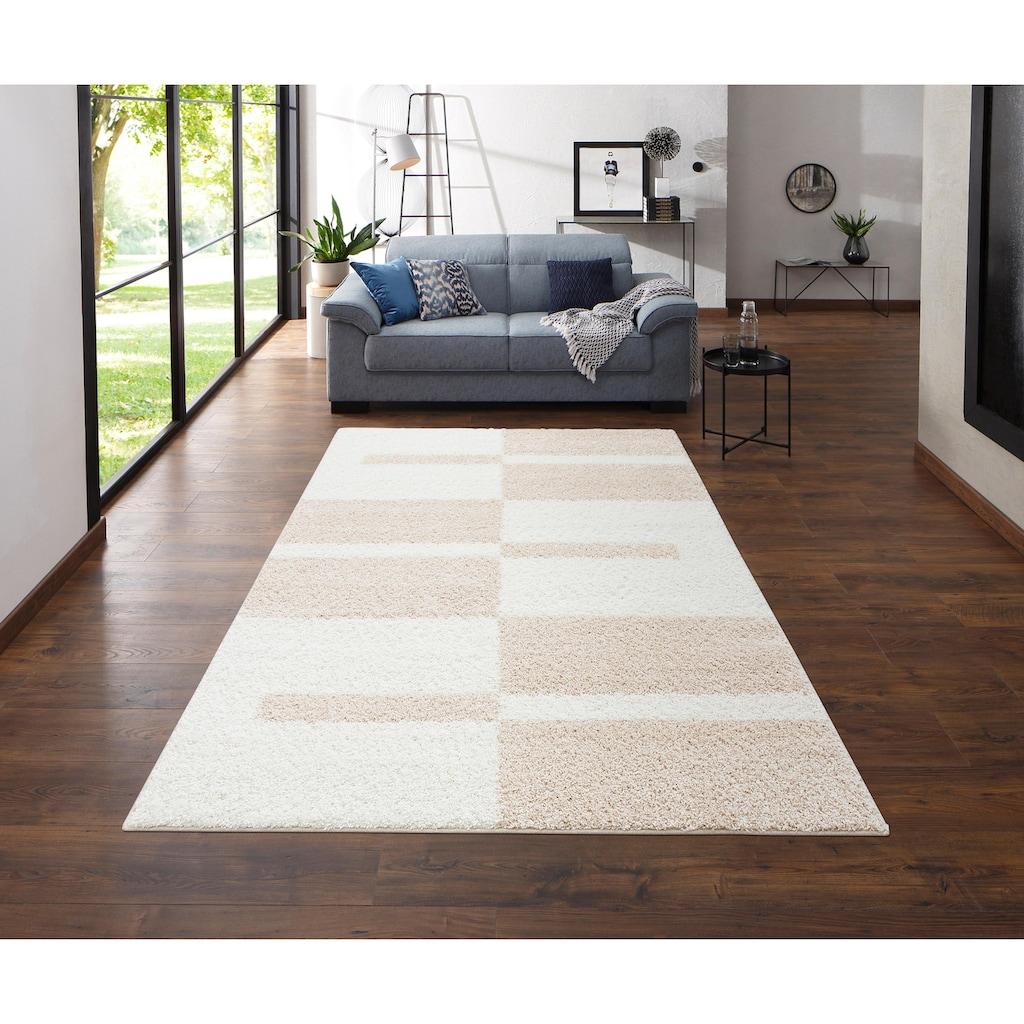 my home Hochflor-Teppich »Gavin«, rechteckig, 30 mm Höhe, grafisches Design, Wohnzimmer