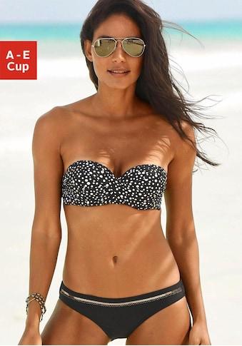 LASCANA Bandeau-Bikini-Top »Ella«, im Punktedesign und goldfarbigen Glanzdruck kaufen