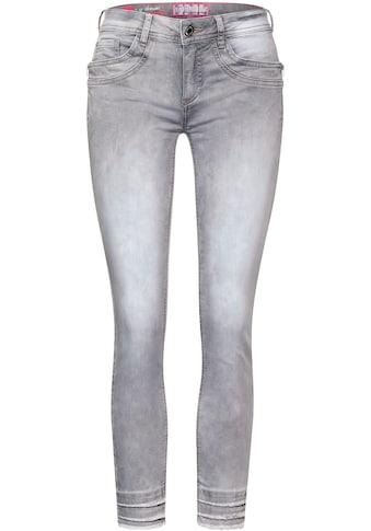 STREET ONE 7/8-Jeans »York«, mit Zierreißverschlüssen kaufen
