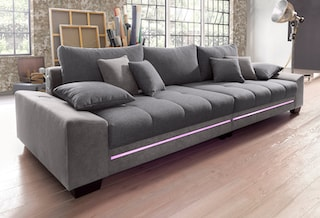 nova via big sofa mit beleuchtung wahlweise mit bluetooth. Black Bedroom Furniture Sets. Home Design Ideas