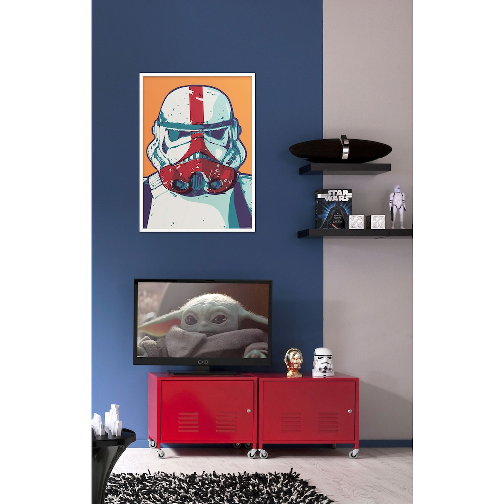 Komar Wandbild »Mandalorian Pop Art Stormtrooper«, Disney-Star Wars, (1 St.), 30 x 40 cm (Breite x Höhe) - 1 Teil