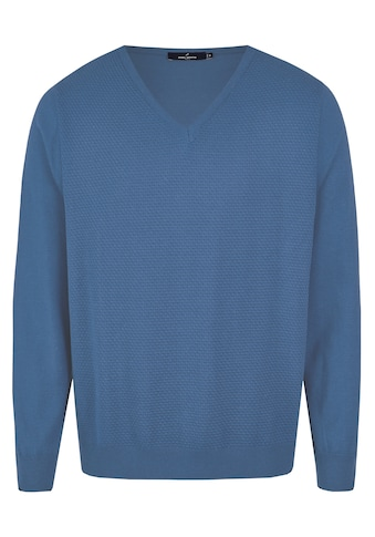 Daniel Hechter V-Ausschnitt-Pullover, mit Strukturmuster kaufen