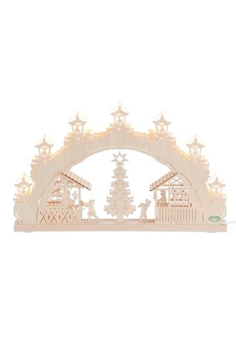 Weigla Schwibbogen »Weihnachtsmarkt«, 7-flammig kaufen