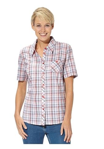 Casual Looks Bluse in bügelfreier Seersucker - Qualität kaufen