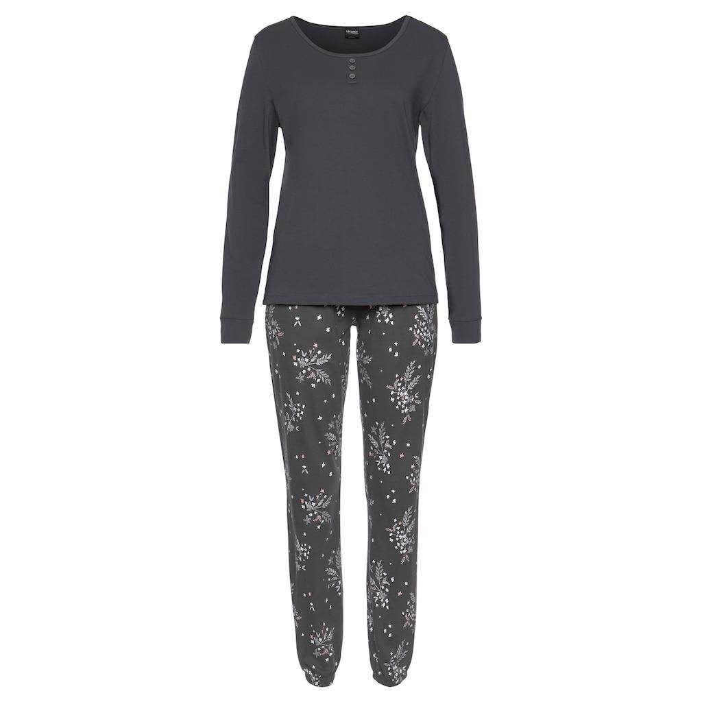 Vivance Dreams Pyjama, mit feinen Blumenzweigen
