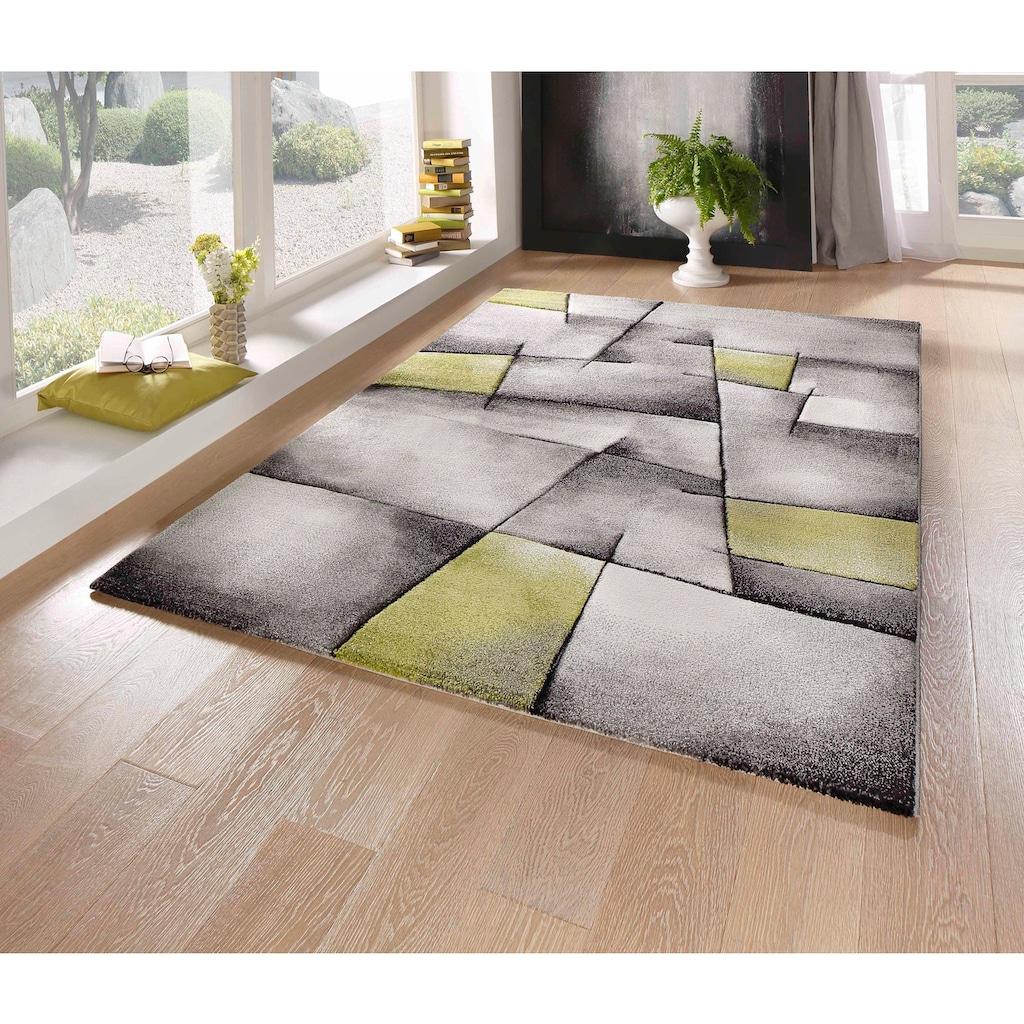 merinos Teppich »BRILLIANCE«, rechteckig, 13 mm Höhe, handgearbeiteter Konturenschnitt, Wohnzimmer